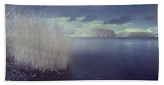 Beach Sheet featuring the photograph  Infrared At Llyn Brenig by Beverly Cash