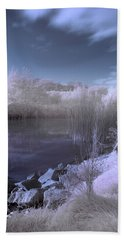 Beach Sheet featuring the photograph  Infrared Pond by Beverly Cash