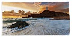 Llanddwyn Island Lighthouse Beach Towel