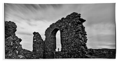 Llanddwyn Island Ruins Beach Towel by Beverly Cash