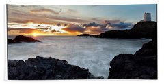 Llanddwyn Island Sunset Beach Towel