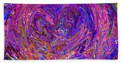 Love From The Ripple Of Thought  V 6  Beach Towel