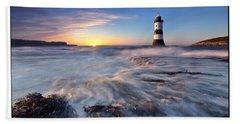 Penmon Point Lighthouse Beach Towel