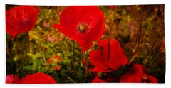 Beach Sheet featuring the photograph  Poppies by Beverly Cash