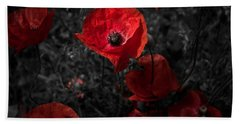 Beach Sheet featuring the photograph  Poppy Red by Beverly Cash