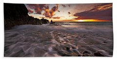 Sunset Tides - Porth Swtan Beach Towel