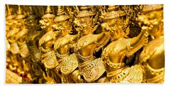 Beach Sheet featuring the photograph  Wat Phra Kaeo by Luciano Mortula