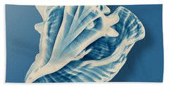 X-ray Of A Conch Shell Beach Towel by Mark Greenberg