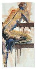 04782 At The Bar Beach Sheet by AnneKarin Glass