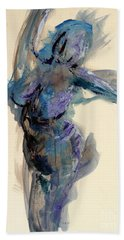 04817 Greetings Beach Sheet by AnneKarin Glass