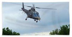 An Agusta A109 Helicopter Beach Towel