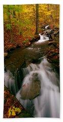 Autumn In New York Beach Towel