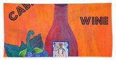 Cabaret Wine Beach Towel