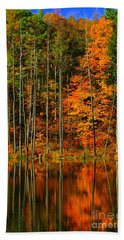 Coxsackie New York State Beach Towel by Mark Gilman