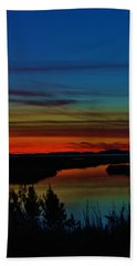 Deep Marshland Sunset Beach Towel