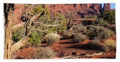 Fisher Towers At Sunset Beach Towel