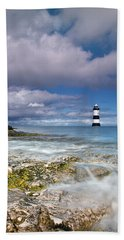 Fishing By The Lighthouse Beach Towel
