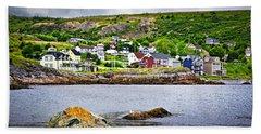 Fishing Village In Newfoundland Beach Towel