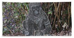 Beach Towel featuring the photograph Garden Goddess by Donna  Smith