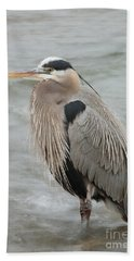 Beach Sheet featuring the photograph Great Blue Heron by Doug Herr