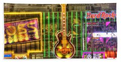 Hard Rock Cafe Las Vegas Beach Towel