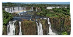 Iguazu Falls Beach Towel by David Gleeson