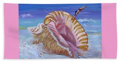 Magic Conch Shell Beach Sheet by Phyllis Kaltenbach