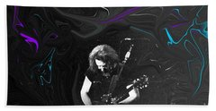 Beach Towel featuring the photograph Jerry Garcia - Grateful Dead - Morning Dew by Susan Carella