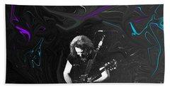 Jerry Garcia - Grateful Dead - Morning Dew Beach Towel by Susan Carella