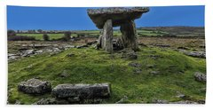 Beach Towel featuring the photograph Poulnabrone Dolmen by David Gleeson