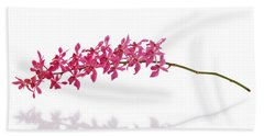 Red Orchid Beach Towel by Atiketta Sangasaeng