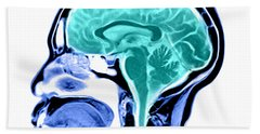 Sagittal View Of An Mri Of The Brain Beach Towel