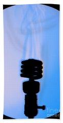 Schlieren Image Of A Hot Light Bulb Beach Towel