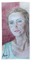 Self Portrait Beach Sheet by Anna Ruzsan