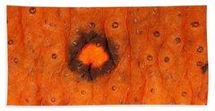Skin Of Eastern Newt Beach Sheet by Ted Kinsman