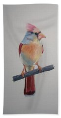 Spring Cardinal Beach Towel by Norm Starks