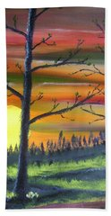 Spring Sunrise Beach Towel