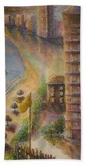 Sunset Beach Beach Sheet by Bernadette Krupa