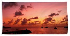 Beach Towel featuring the photograph Sunset by Catie Canetti