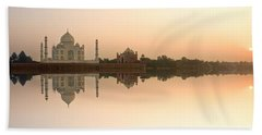 Beach Sheet featuring the photograph Taj Mahal  by Luciano Mortula