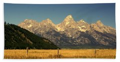Beach Towel featuring the photograph Tetons 3 by Marty Koch