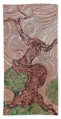 The Earthen Tree Beach Towel