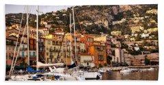 Villefranche-sur-mer  Beach Towel by Steven Sparks