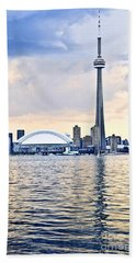 Toronto Skyline Beach Towel by Elena Elisseeva