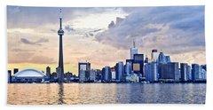 Toronto Skyline Beach Towel