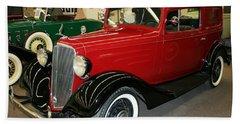 1930's Antique Chevrolet Sedan Beach Towel