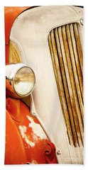 1940's Seagrave Fire Engine Beach Sheet