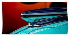 1948 Chevy Hood Ornament Beach Towel