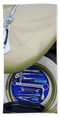 Beach Towel featuring the photograph 1956 Volkswagen Vw Bug Tool Kit by Jill Reger