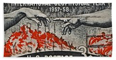 1957-1958 International Geophysical Year Stamp Beach Towel